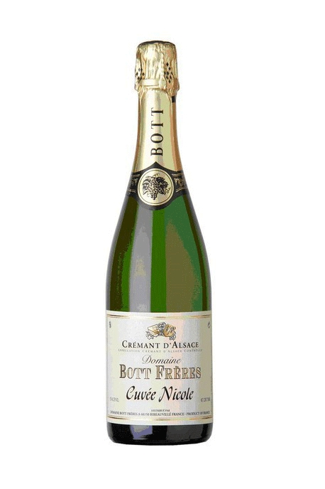 "Domaine Bott Freres - Cremant ""Cuvee Nicole"" methode traditionnelle"