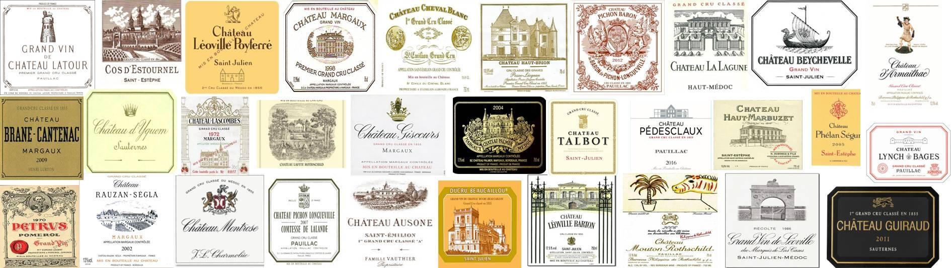 Les grands crus classés de Bordeaux