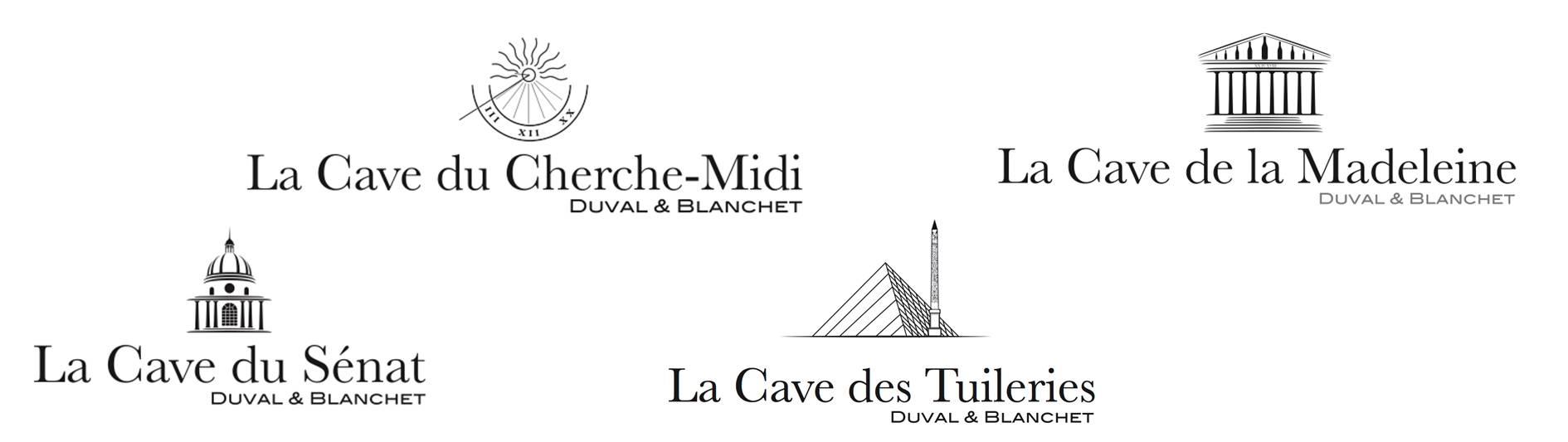 Logos de nos 4 caves